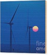 Wind Farm Wood Print