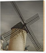 Windmills At Campo De Criptana Wood Print