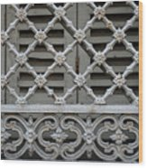 Window Grill In Toulouse Wood Print