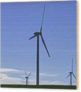 Windy Power Wood Print