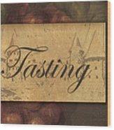 Wine Tasting Collage  Wood Print