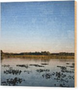 Wingfoot Lake Wood Print