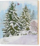 Winter Delight Wood Print