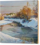 Winter Evening Wood Print