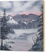 Winter In Three Colors Wood Print