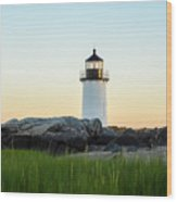 Winter Island Lighthouse, Salem Ma Wood Print