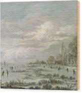 Winter Landscape Wood Print by Aert van der Neer
