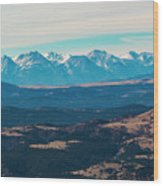 Winter Sangre De Cristo Mountains Wood Print
