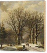 Winter Scene In Reichswald Wood Print