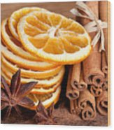Winter Spices Wood Print