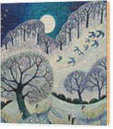 Winter Woolies Wood Print