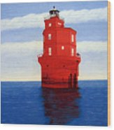 Wolf Trap Lighthouse Wood Print