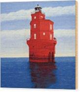 Wolf Trap Lighthouse Wood Print