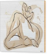 Woman 15  From When De Body Talk Collection Wood Print