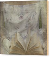 Woman With A Book Wood Print by Joana Kruse