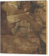Woman With Dove Wood Print