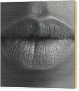 Woman's Lips Wood Print by Cristina Pedrazzini