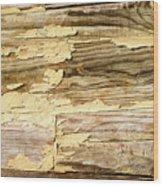 Wooden Fishing Boat Hulls Wood Print