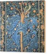 Woodpecker Tapestry Wood Print
