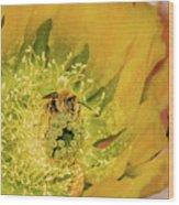 Working Bee Wood Print by Allen Sheffield