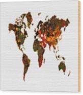 World Map 2b Wood Print