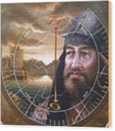 World Unification Gold Or Sea Captain Wood Print