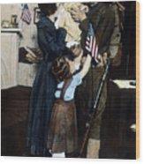 World War I: Deployment Wood Print