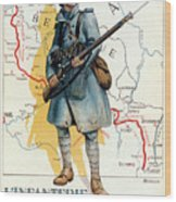 World War I: French Poster Wood Print