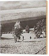 World War I: Zeppelin Wood Print