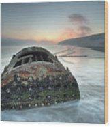 Wreck Of Laura - Filey Bay - North Yorkshire Wood Print