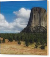 Wyoming's Devil's Tower Wood Print