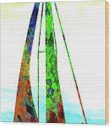 Yachtsman Wood Print