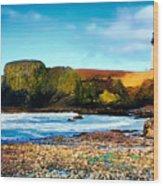 Yaquina Bay Lighthouse II Wood Print