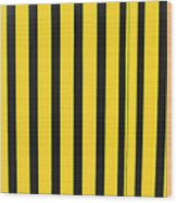 Yellow And Black Stripes Wood Print