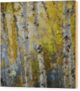 Yellow Aspens Wood Print by Marilyn Sholin
