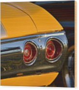 Yellow Chevy Wood Print