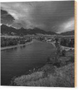 Yellowstone River Camp Wood Print