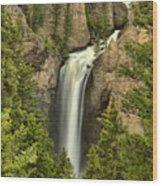Yellowstone Tower Falls 2018 Wood Print