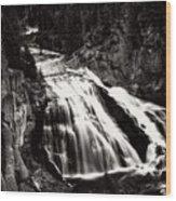Yellowstone's Gibbon Falls Wood Print