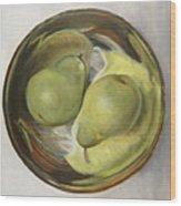 Yin Yang Pears Wood Print