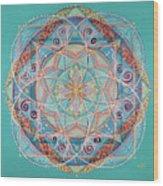 Yogi By The Sea Wood Print