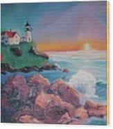 York Beach Maine Wood Print