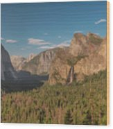 Yosemite Valley View Wood Print