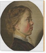 Young Boy In Profile Wood Print