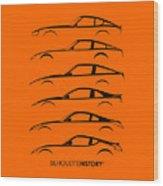 Zee Car Silhouettehistory Wood Print