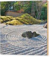 Zen Garden At A Sunny Morning Wood Print by Ulrich Schade