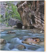 Zion National Park Narrows Wood Print