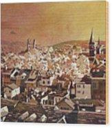 Zurich Skyline Wood Print