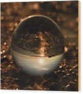 10-17-16--8585 The Moon, Don't Drop The Crystal Ball, Crystal Ball Photography Wood Print