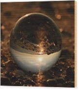 10-17-16--8590 The Moon, Don't Drop The Crystal Ball, Crystal Ball Photography Wood Print